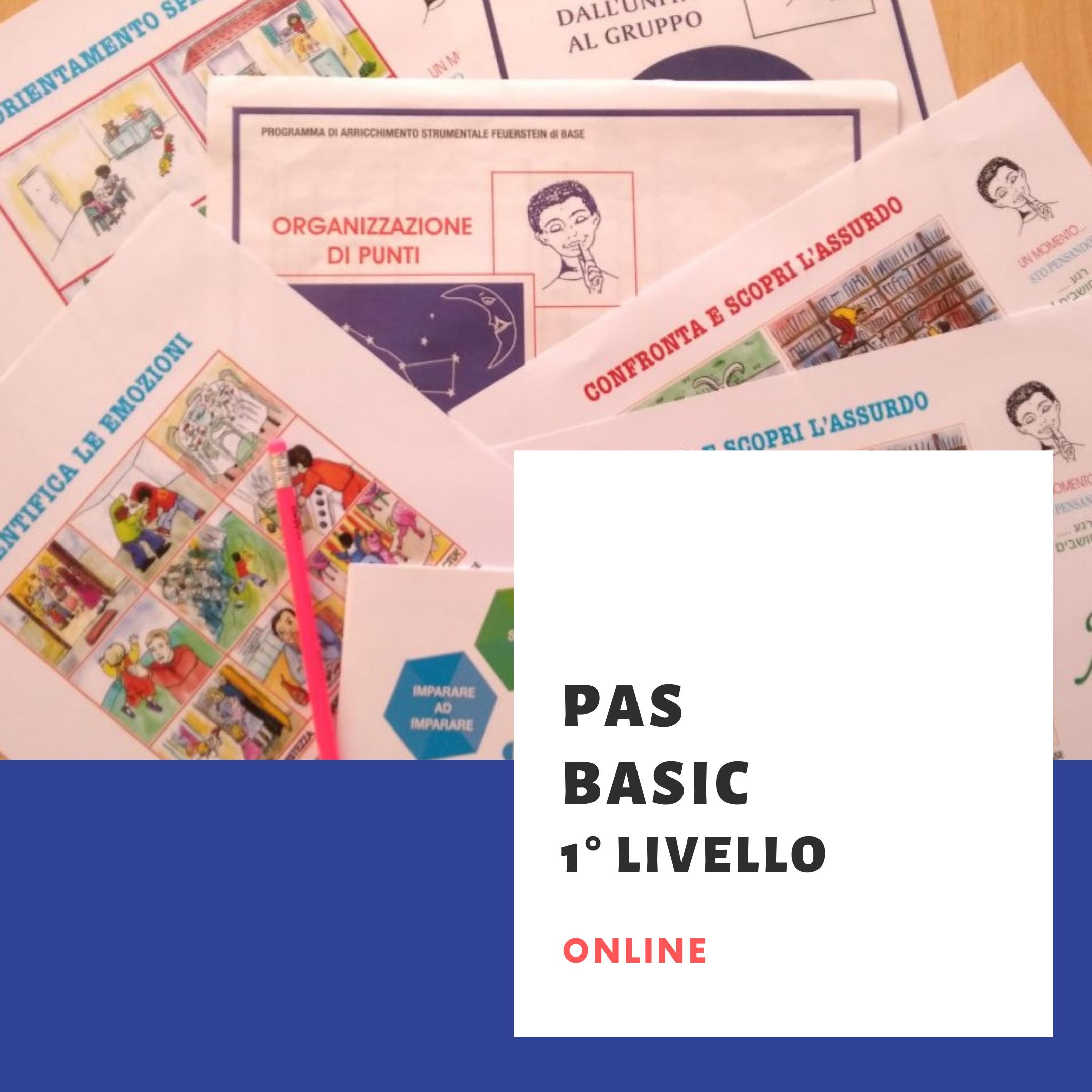 PAS BASIC 1° livello online settembre 2021 - LISTA D'ATTESA