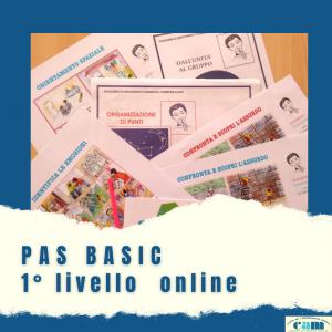 PAS BASIC 1° livello online maggio 2021
